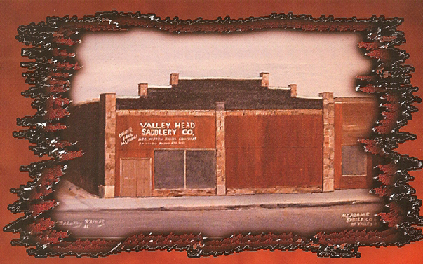 Valley Head Saddlery's first location in Valley Head, Alabama